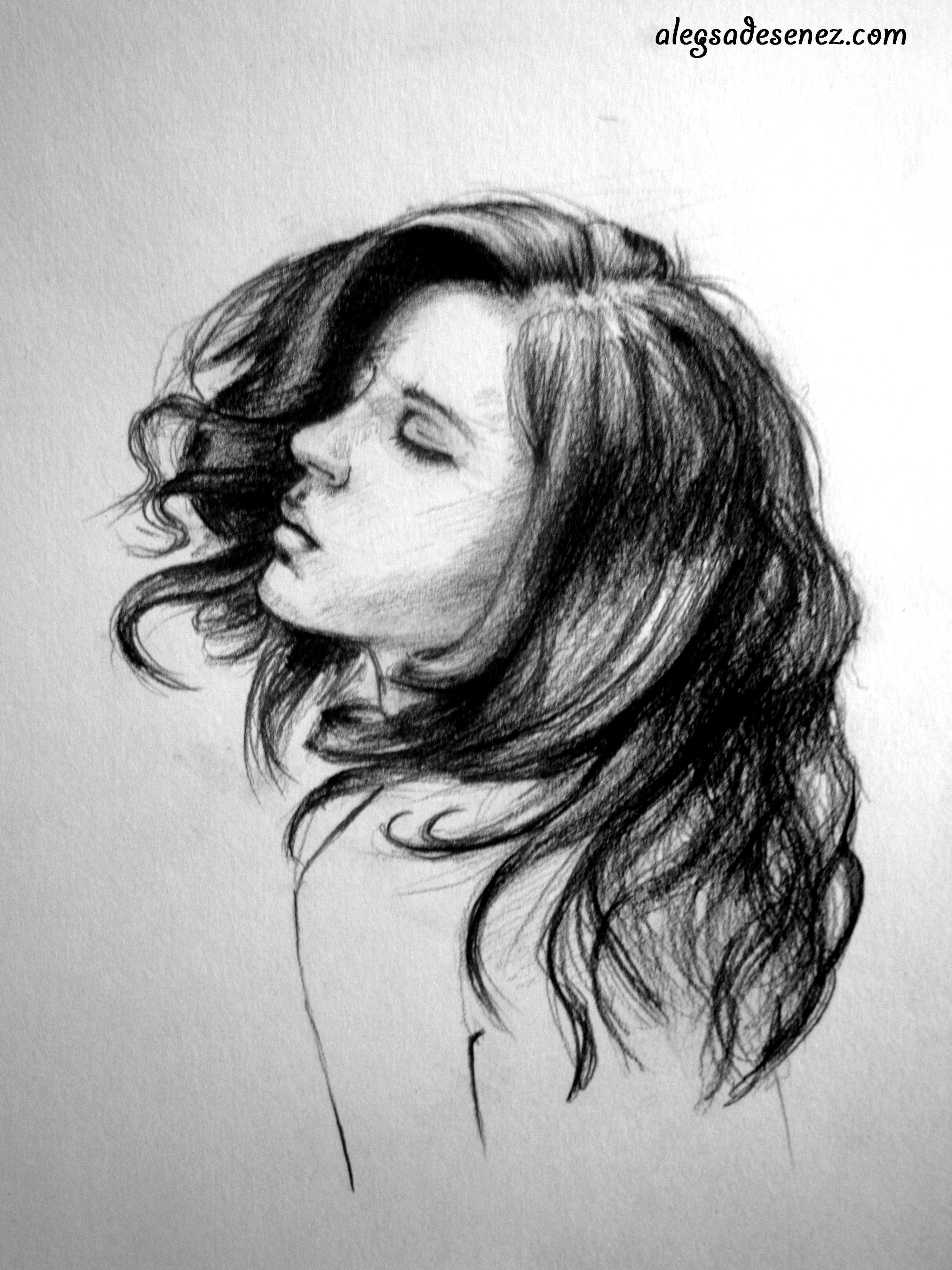 cum desenez parul ondulat