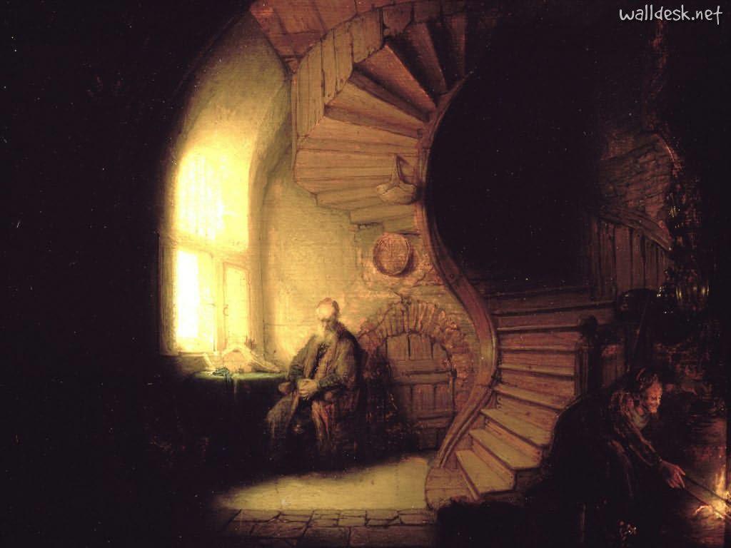 Philosopher-in-Meditation,-Rembrandt,-1632
