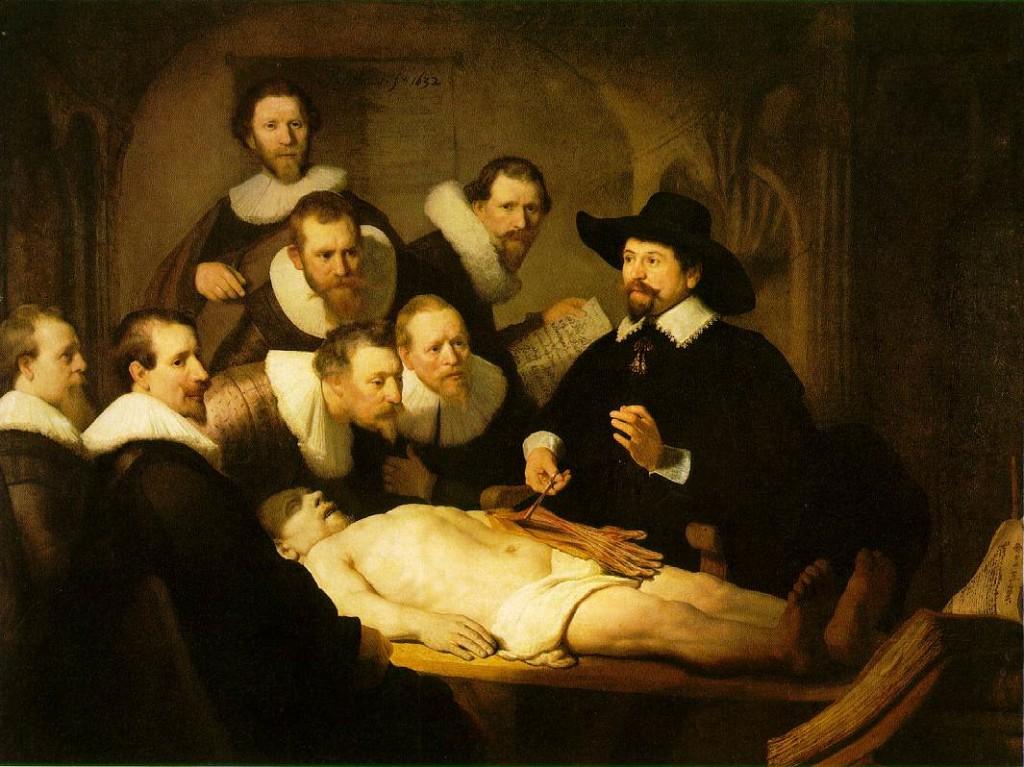 lectie de anatomie - rembrandt