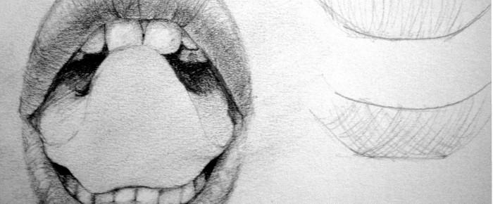 Exercitiu de expresivitate si textura – gura (buze, dinti si limba)