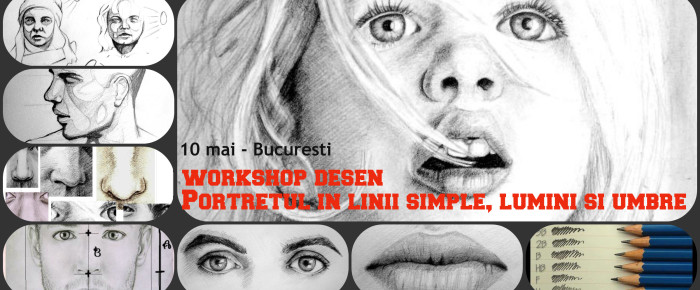 Workshop de desen – Bucuresti (Portret in linii simple, lumini si umbre)