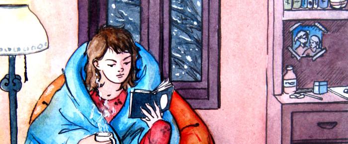 """O seara perfecta de iarna"" – ilustratie in acuarele"