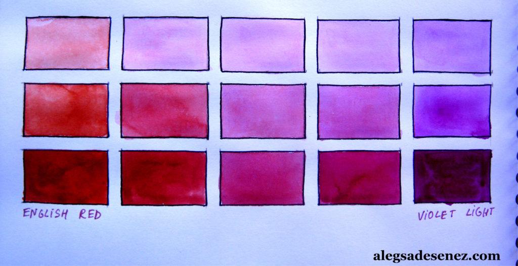 english red - violet light