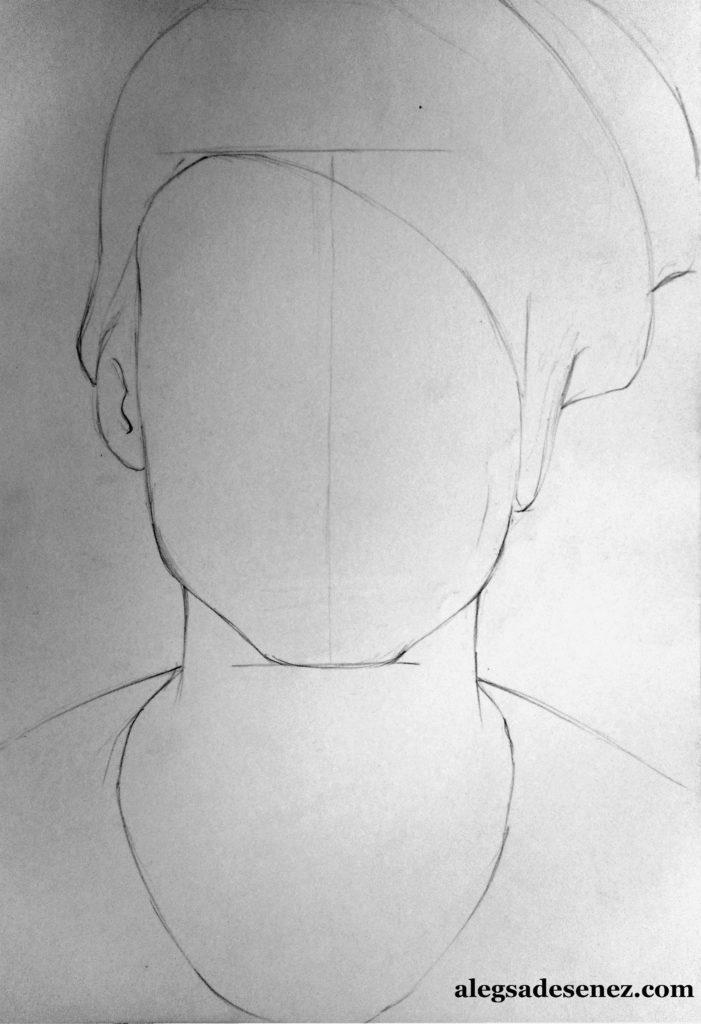 portret in linie modulata 2