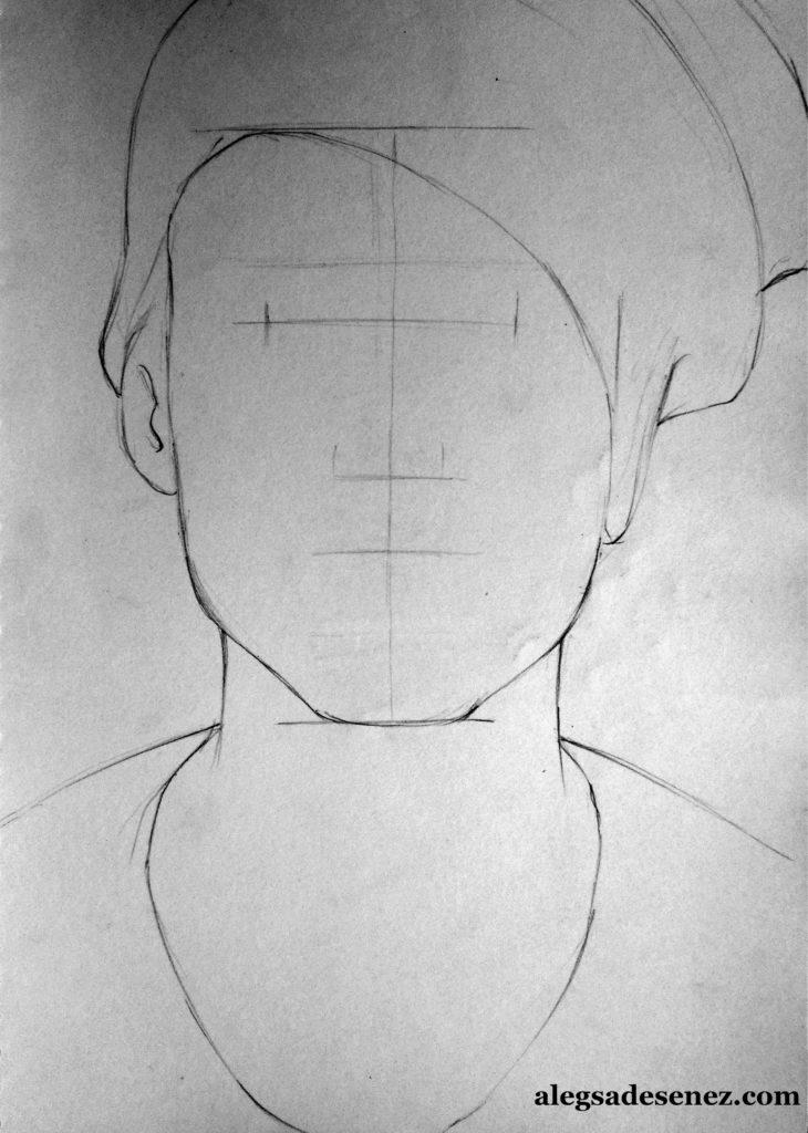 portret in linie modulata 3
