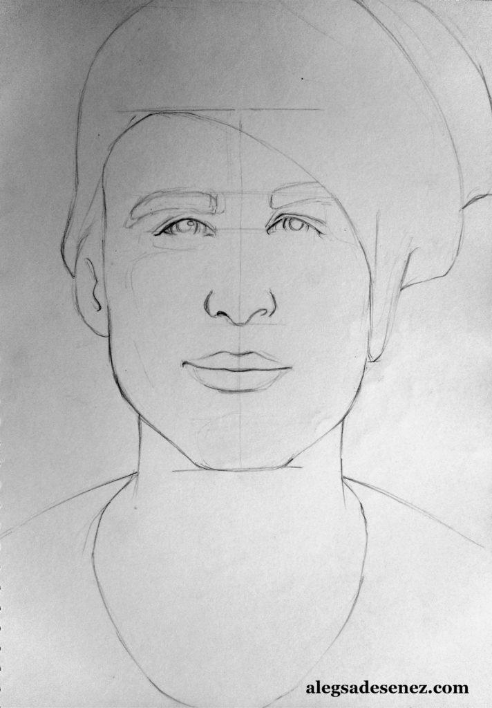 portret in linie modulata 4