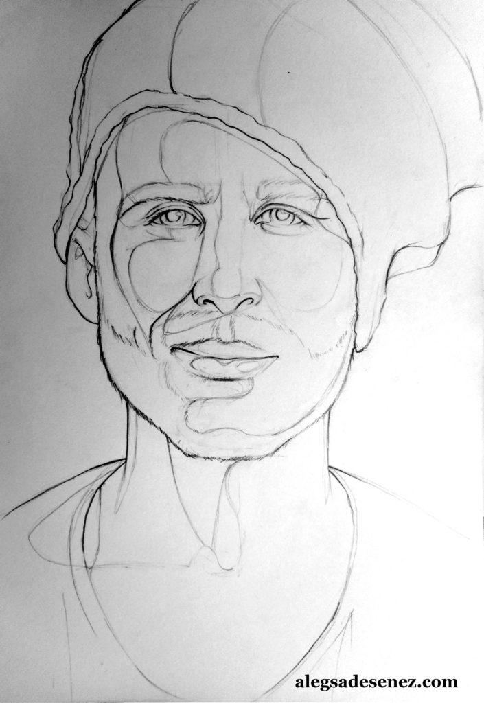 portret in linie modulata 5