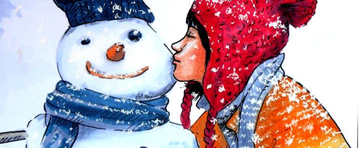 """""""Dragoste pentru omul cu inima de gheata"""" – ilustratie markere copic"""