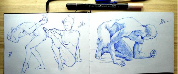 Exercitiu de anatomie: cum pui pe hartie miscarea naturala a corpului uman.